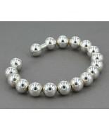 10mm Sterling Silver Beaded Twist-Flex Cuff Bracelet 26.6 Grams - $26.99