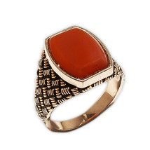 925 Sterling Silver Agate Beautiful Ring India Vintage Jewelry MB227DP - $186.82