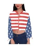American Flag Women's Chiffon Cropped Jacket - $59.98