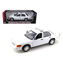 2001 Ford Crown Victoria Unmarked White Police Car 1/18 Diecast Model Ca... - $48.00