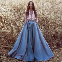 Lady Full Pleated Maxi Taffeta Skirt White Taffeta Wedding Party Skirt Plus Size image 3