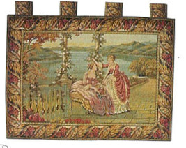 Ladies at the Terrace 2 Wall Tapestry - $148.00