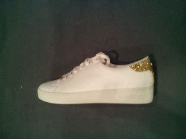 Women's Michael Kors White Leather  Lace Up Flat Shoes Size 7.5 - $70.00