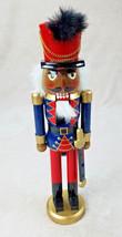 "Vintage Nutcracker Soldier Beard Sword Hat w/Feather Wood 15"" Christmas ... - $20.43"