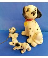 "Vintage Dalmatian Dalmation Mom & Puppies Dog Figurine Statue Pet 6"" - $31.96"