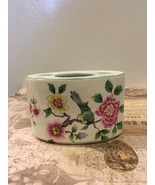 Vintage Old Kent Staffordshire Toothbrush Caddy Birds and Blossoms DesIgn  - $10.50