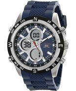 U.S. Polo Assn. Sport Men's US9137 Blue Silicone Analog Digital Sport Watch - $77.56 CAD