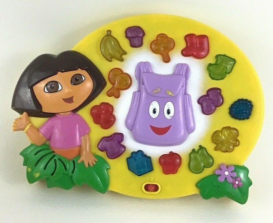Dora The Explorer Electronic Learning Game Find It Two Ways Backpack 2002 Mattel - $24.70