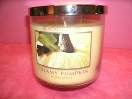 Bath and Body Works Slatkin & Co. 3 Wick -14.5 Oz Candle Creamy Pumpkin - $99.99