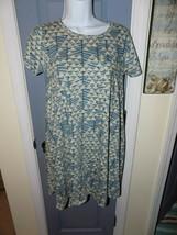LuLaRoe Heathered W/Blue Triangles Carly Dress Size XXS Women's EUC - $29.04