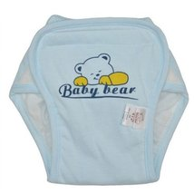 Washable Waterproof Baby Toddlers Pant Newborn Infant Reusable Diaper BLUE Bear