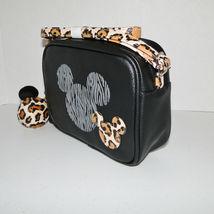 Disney Parks Animal Kingdom Mickey Mouse Leopard Crossbody Purse image 3