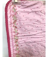 Gymboree Pink Blanket Quilt 1999 Gingham Flowers Shabby Country Cotton Crib - $49.49