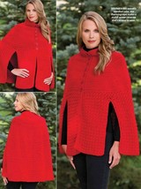 W457 Crochet PATTERN ONLY Ladies Out on the Town Cape Pattern to 2XL - $8.50