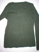 NWT New Womens Sweater Extra Soft Gabriella Rossi Cashmere S Dark Green 2 ply image 4