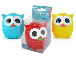 Kikkerland Gufo Timer Cucina Owlet 60 Minuti Meccanico Blu Rossa Verde G... - $6.24