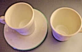 Corelle 2 Cups and Saucers Calla Lilies Blue Rim 4 Pieces EUC - $12.86