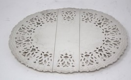 "Silverplate Expandable Trivet Made in Italy   Expands to 12""  Beautiful ... - $54.99"