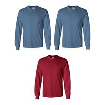 3/PK Size 3XL Gildan Ultra Cotton Mens Crewneck Long Sleeve T-Shirts 2400 - $29.38