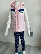 Tommy Hilfiger Kinder Mädchen Vest Shirt Leggins 4 Jahre  Versand aus DE - $64.78