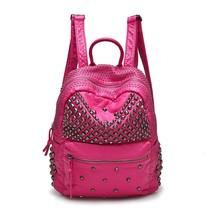 Women Fashion Backpack Washed PU Leather Travel Bag Student School Bookb... - €39,95 EUR