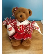 Build A Bear Brown Bear & Clothing Cheerleader Outfit Red/White Cheer Fl... - $24.75