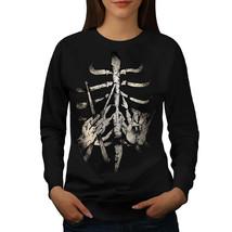 Rib Cage Drummer Stick Jumper Finger Bone Women Sweatshirt - $18.99
