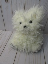 Manhattan Toy Company bear puppy  Puppet 5 inches white shaggy soft - $24.74