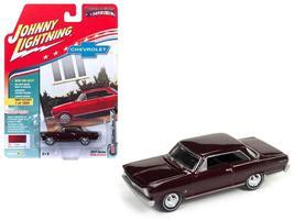 1965 Chevrolet Nova SS Madeira Maroon Poly Hob Muscles USA 1:64 Diecast - $15.70