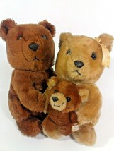 Vintage 1983 Dakin Three Little Bears Plush Family Mama Papa Baby Stuffe... - $59.95