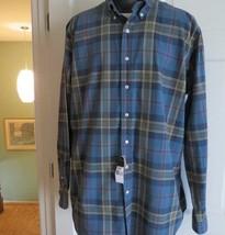 New Ralph Lauren Classic Fit Men's Blue Plaid Shirt Size Lt Tall Nwt - $53.45