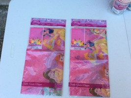 """Lot of 2 Disney Princess Pink Table Cover 54"""" x 102"""" - $11.99"""