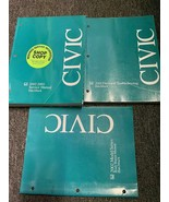 2002 2003 Honda Civic Hatchback Repair Service Shop Manual Set W ETM & B... - $59.35