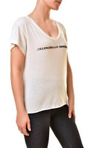 Wildfox Da Donna WCO61799X Telepathically Orders Pizza T-Shirt Ivory Tag... - $55.72