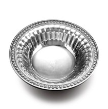 New Wilton Armetale Flutes and Pearls Round Snack Bowl 272935, 8-Inch Mu... - ₨2,056.74 INR