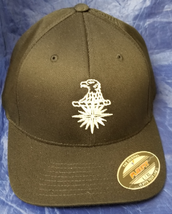 CIA Central Intel Agency EAGLE w 16pt Compass Star Embroidered FlexFit Hat - $37.49