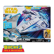 STAR WARS Force Link 2.0 Kessel Run MILLENNIUM FALCON Lights Up HAN SOLO... - $197.99