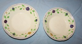 2 Small Wedgwood Montclare Pattern England Fruit Bowls - $17.15