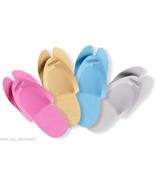 Disposable Foam Pedicure Salon Spa Flip Flop Slippers Assorted Colors 48... - $12.16