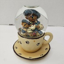Fine Cup of Tea Snowglobe Boyds Bears The Bearstone Collection 02000-21 - $26.40
