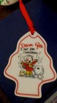 Dear God Kids Tree Shaped Ornament Dear God I Just Love Christmas! New - $1.50