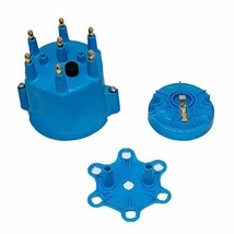 A-Team Performance 6-Cylinder Male Pro Series Distributor Cap & Rotor Kit BLUE