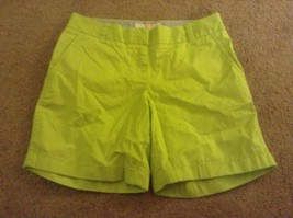J Crew green chino shorts sz 0 womens  flat front broken in new nwt - $14.00