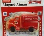 Budweiser Anheuser Busch Red Delivery Truck Magnet NIP New Vintage Item #33529