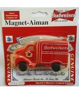 Budweiser Anheuser Busch Red Delivery Truck Magnet NIP New Vintage Item ... - $24.99
