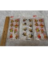 "New Hallmark lot 3 packs 2 each ""Love Em"" ""Bug Em"" Puffy Bouffant Sticke... - $6.92"