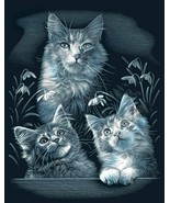 Reeves Kittens Scraperfoil Artwork, Silver - $14.79