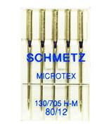SCHMETZ Microtex Sharp Sewing Machine Needles Size 12, M-80B - $6.26