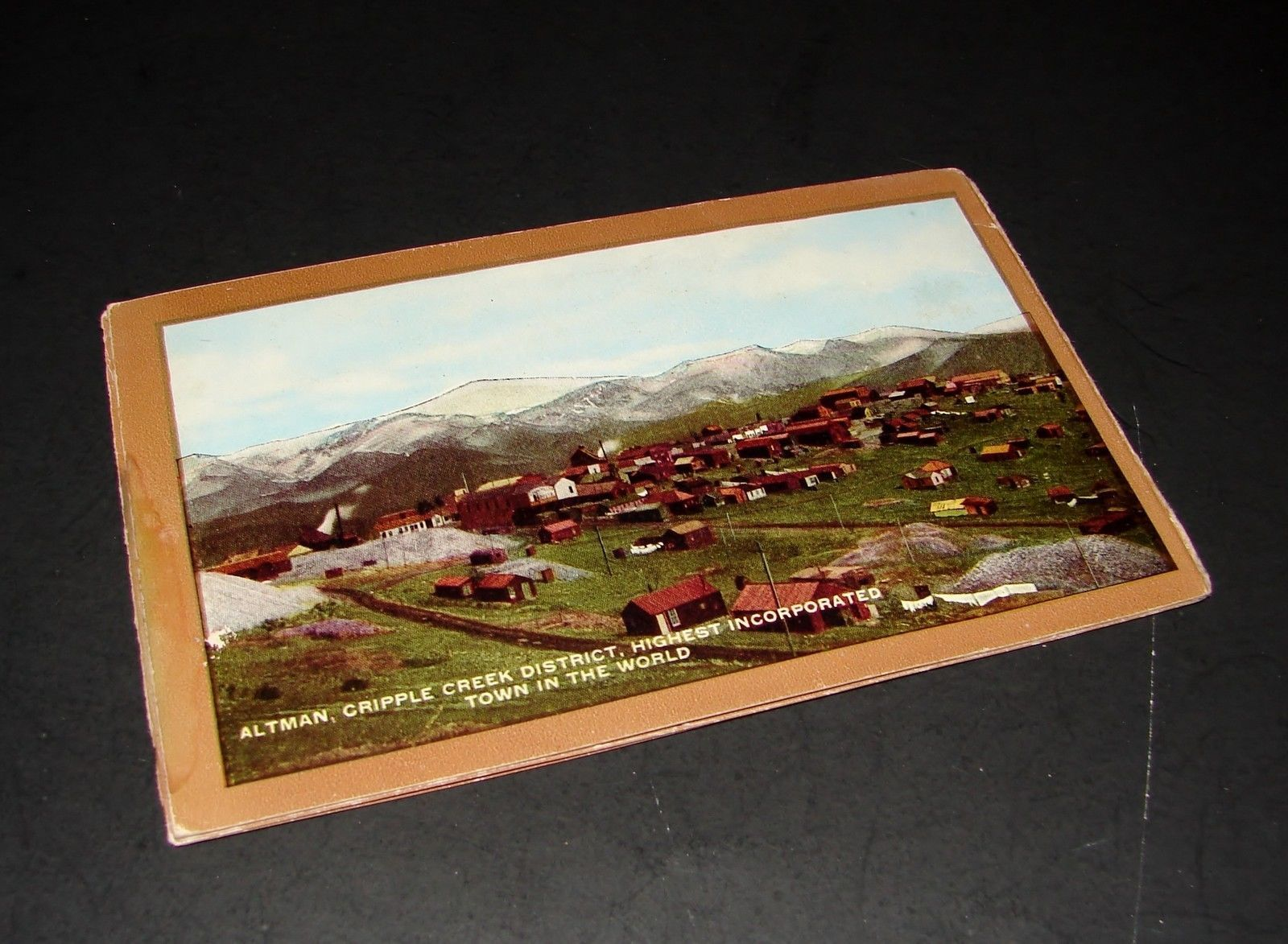 1916 Antique POSTCARD FOLDER Cripple Creek Short Line Railroad Train Colorado