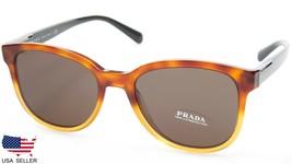 4c98e69ef22b8 New Prada Spr 08U NKO-4J1 Havana Gradient Yellow Sunglasses 54-19-145